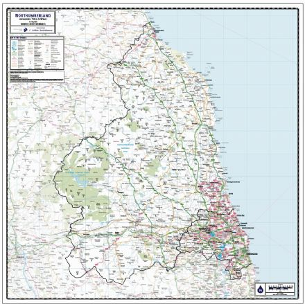 Northumberland County Wall Map